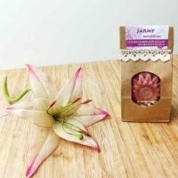 Jármy levendulás kecsketejes virág alakú szappan dekoratív csomagolásban 100 g.