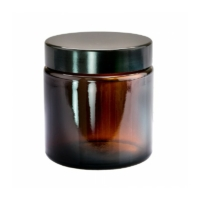 Ambra barna üvegtégely fedéllel 120 ml.