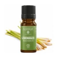 Mayam citromfű illóolaj, tiszta, Bio, Ecocert / Cosmos 10 ml.