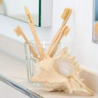 Pandoo bambusz fogkefe gyerekeknek 4 db.