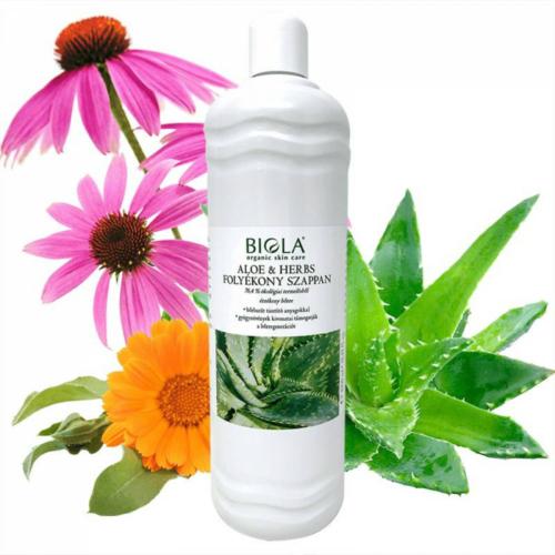 Biola bio aloe herbs  folyékony szappan 1000 ml.