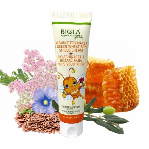 Biola bio echinacea & búzafű baba  popsivédő krém 100 ml.