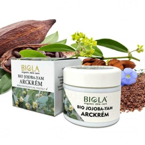 Biola bio jojoba yam arckrém 50 ml.