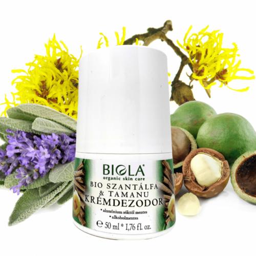 Biola bio szantálfa & tamanu krémdezodor 50 ml.