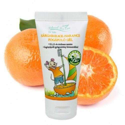 Biola natural scin care sárgabarck narancs fogápoló gél 50 ml.