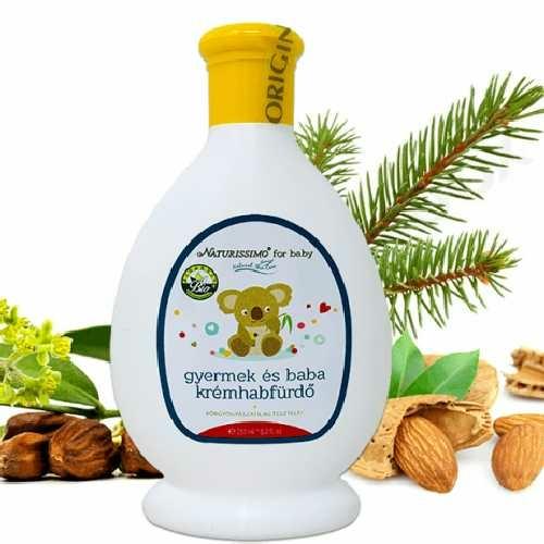 Biola herbal natural scin care gyerek és baba krémhabfürdő 250 ml.