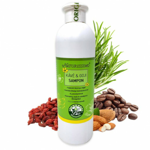 Biola naturissimo kávé & goji sampon 500 ml.