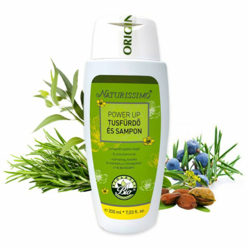 Biola naturissimo power up tusfürdő és sampon 200 ml.
