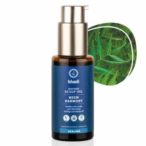 Khadi Neem Harmony ajurvédikus olaj fejbőrre  hajolaj 50 ml.