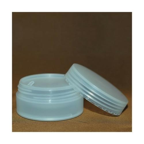 CARVEN műanyag tégely fedéllel, PP, 50 ml.