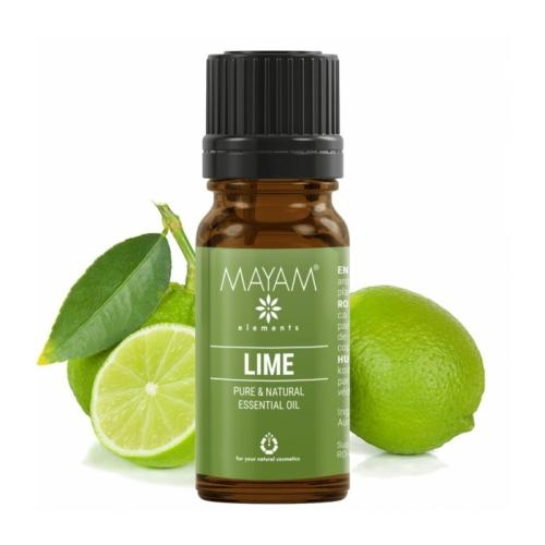 Mayam  zöldcitrom (lime) illóolaj, 100% tiszta (citrus aurantifolia), 10 ml