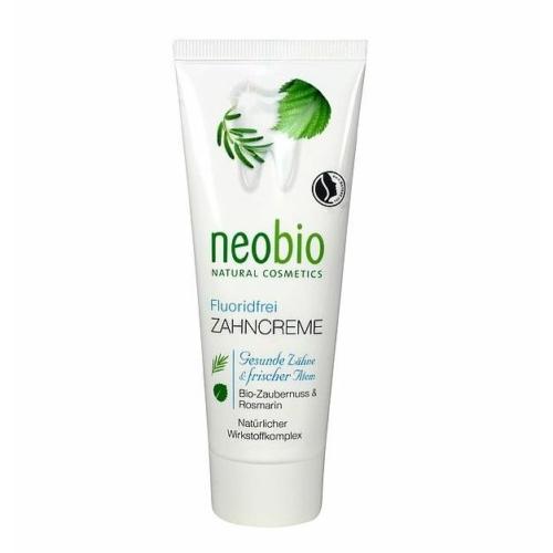 Neobio fluoridmentes fogkrém bio varázsmogyoróval és rozmaringgal 75ml.