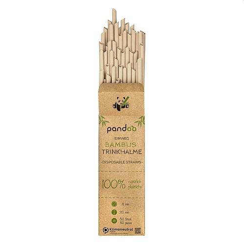 Pandoo eldobható bambusz szívószál 50 db.